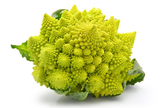 Romanesco broccoli cabbage isolated