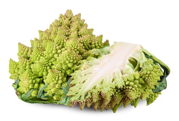 Romanesco isolated on white clipping path