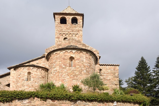 Romanesque church of sant vicens, espinelves, girona province, catalonia, spain