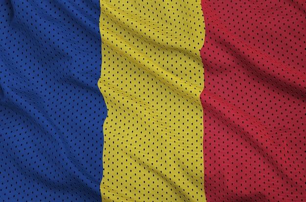 Romania flag printed on a polyester nylon mesh