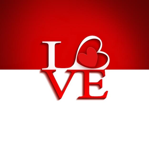 「愛」の文字とロマンチックな背景