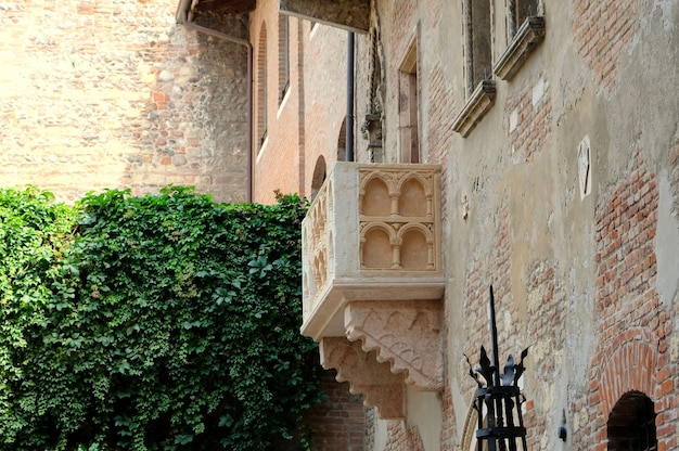 The romantic balcony of romeo and juliet