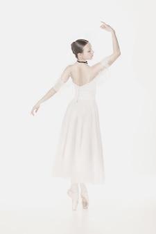 Romantic beauty. retro style ballerina