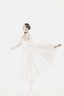 Romantic beauty. retro style ballerina