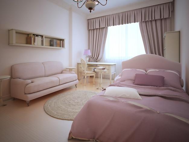 Romantic bedroom for teenager girl