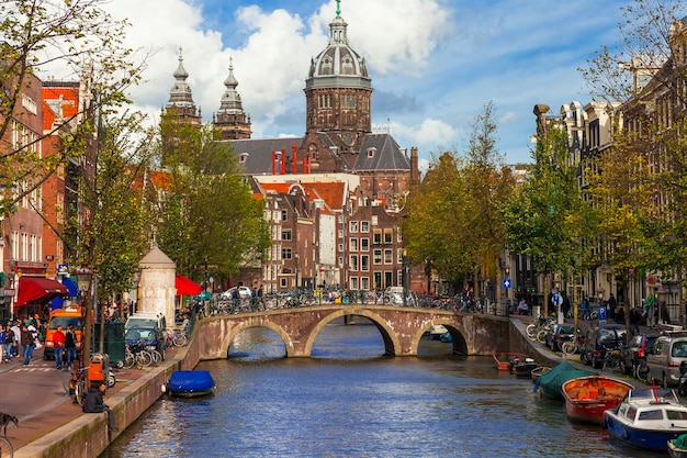 Romantic canals of amsterdam