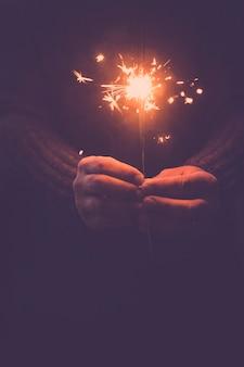 お祝いの新年とクリスマス休暇のロマンチックな概念
