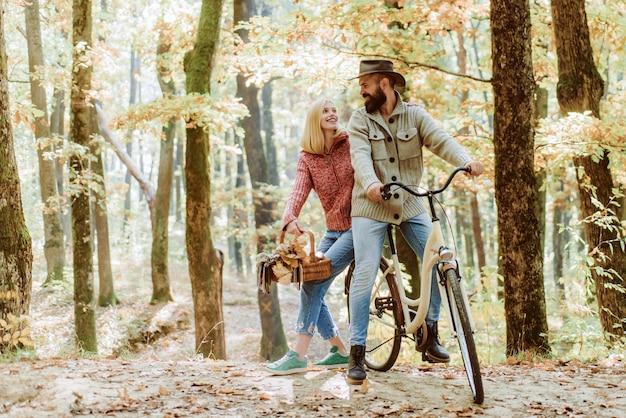自転車でロマンチックなデート。