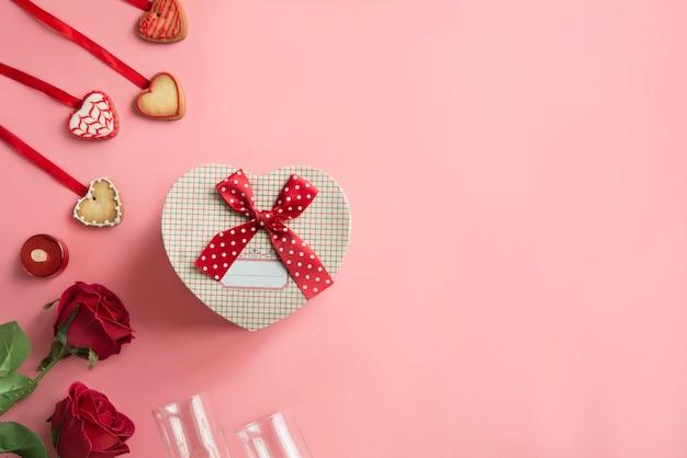 Romantic dinner - table setting for valentine