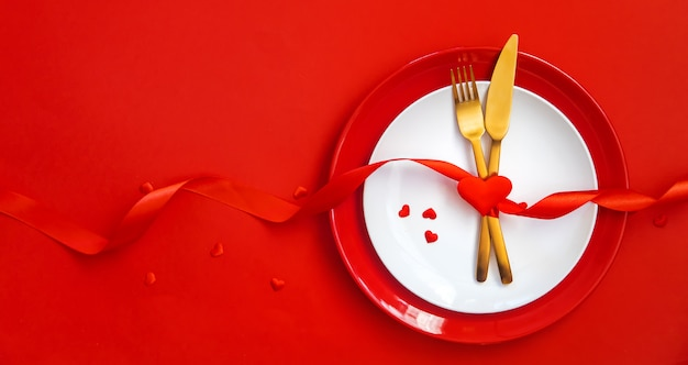Romantic dinner for valentine's day