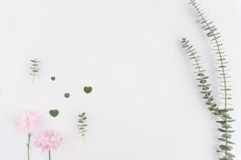Romantic floral background with color details