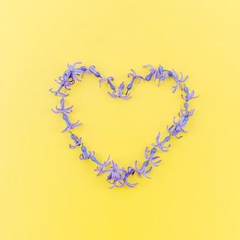 Romantic heart of flowers