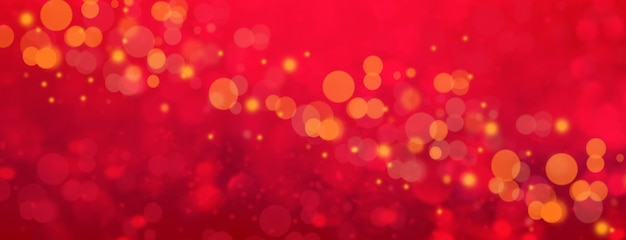 Romantic red bokeh abstract valentine background.