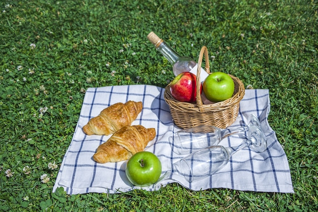 Романтический летний пикник на природе.