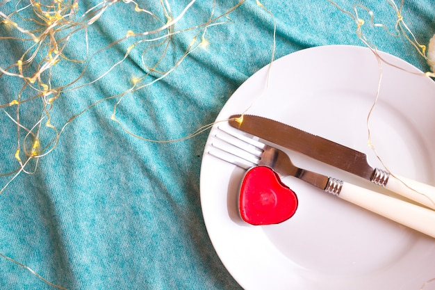 Romantic valentine's day dinner.