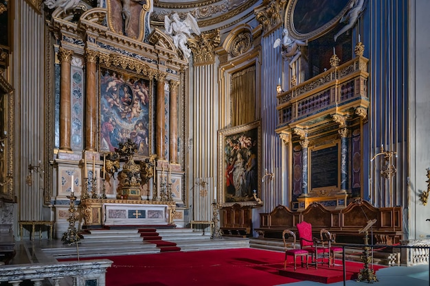 イタリア、ローマ-11.20.2019:vallicellaのサンタマリア、またはイタリア、ローマの教会、chiesa nuova