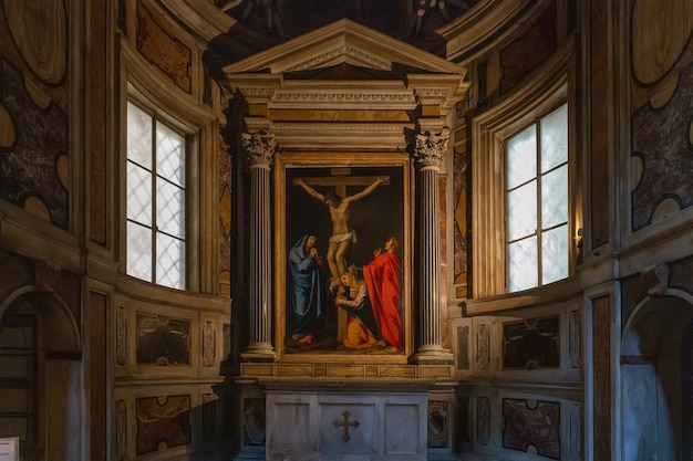 Рим италия санта-мария в валличелле или кьеза нуова церковь в риме италия