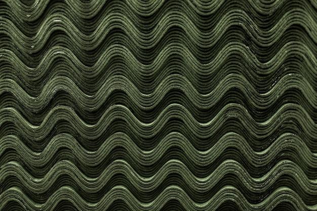 지붕 녹색 슬레이트 타일 패턴 웨이브 텍스처입니다.