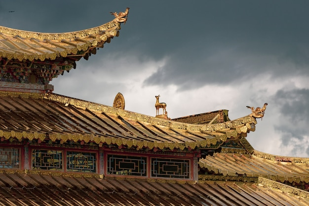 Roof of the jiayuguan fortress in china