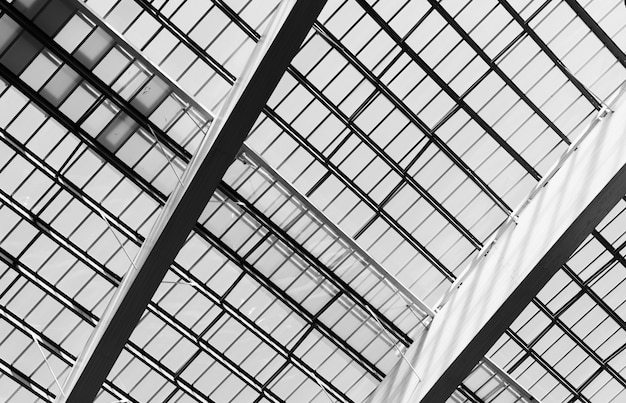 Roof and plastic skylights of building. dome skylights made of translucent polycarbonate sheets.