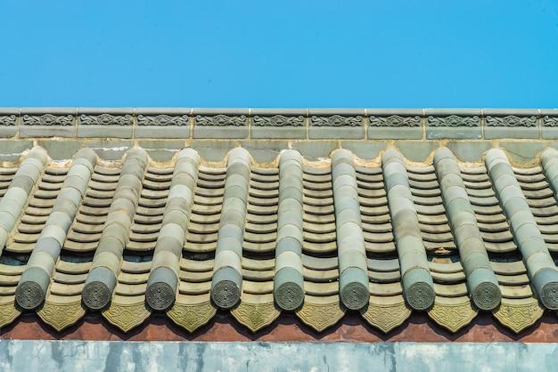 Tetto a stile cinese del tempio