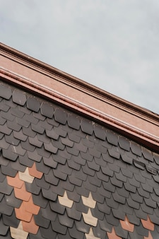 Roof tiles from a building in the city