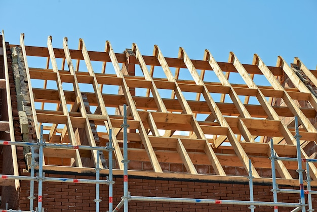 Roof trusses and sky