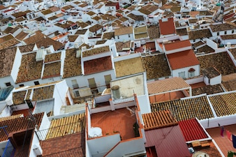 Roofs  of ordinary andalusian town.  olvera
