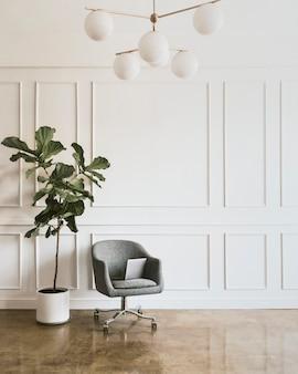 植物のある部屋の装飾