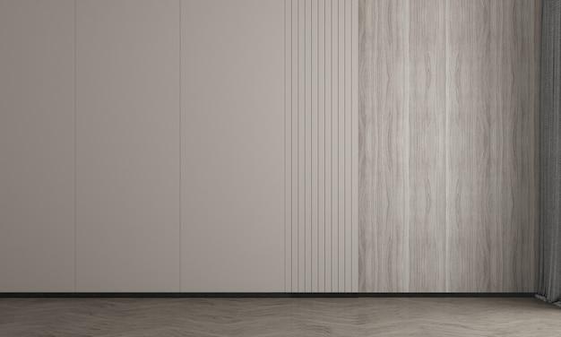 방 인테리어 디자인과 나무 벽