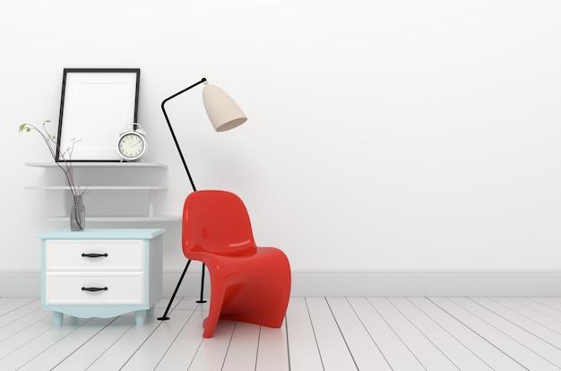The room living interior design.3d rendering