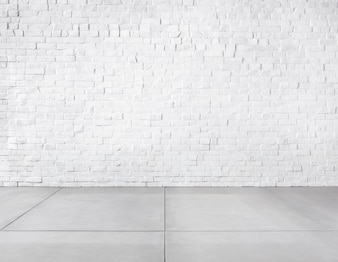 レンガの壁とコンクリートの床で作られた部屋