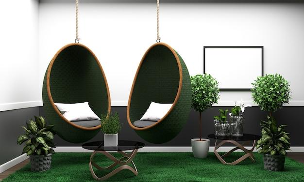 客室はモダンなトロピカルスタイルのコンポジション