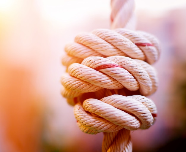 Rope closeup on blurred background