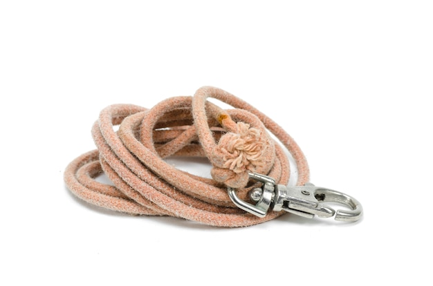 Rope and hook isolated on white background