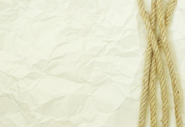白い背景で隔離のロープ