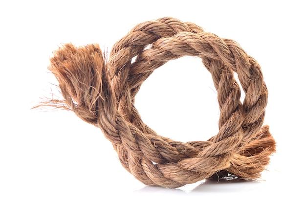 白い表面のロープ