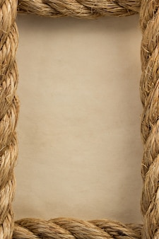 Ropes and old vintage ancient paper  background