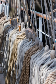 Ropes on a sail ship