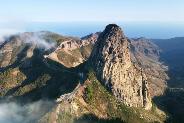 Roque de agando, la gomera, canary islands
