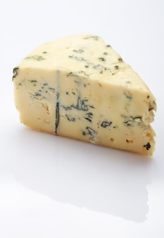 Roquefort  french cheese on white