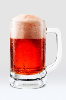 Rose draught beer png in mug mockup