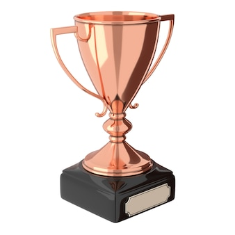 Rose gold bronze trophy