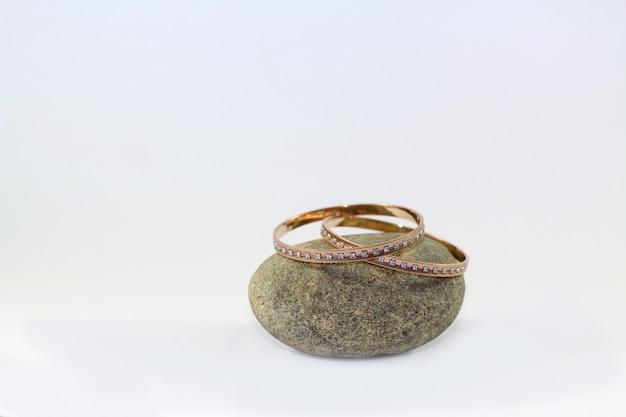 Rose gold diamond bangles
