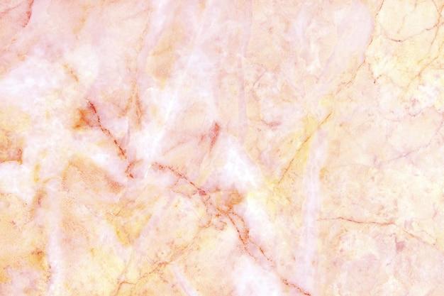 ローズゴールドの大理石の質感の背景、天然タイルの石の床。