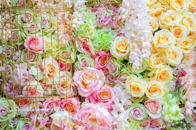 배경 또는 인사말 카드 디자인, 사랑 개념을 위한 장미 파스텔 색상