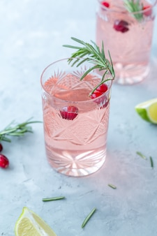 Rosemary cranberry cocktail