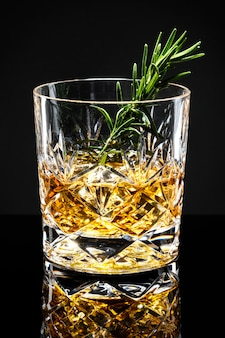 Rosemary old fashioned whisky cocktail