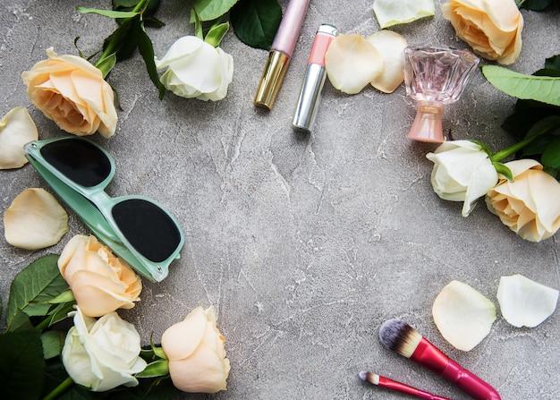 Розы и косметика