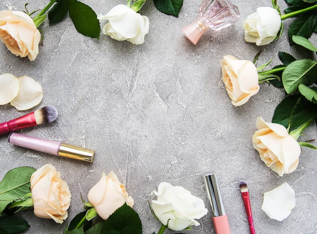 Roses and cosmetic